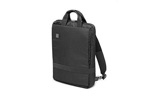 Moleskine Vertikale Gerätetasche ID, Vertikale Rucksacktasche (für 15 Zoll Laptop und Tablet PC, Wasserdicht, Büro und Arbeit, Größe 30 x 38 x 10 cm) schwarz