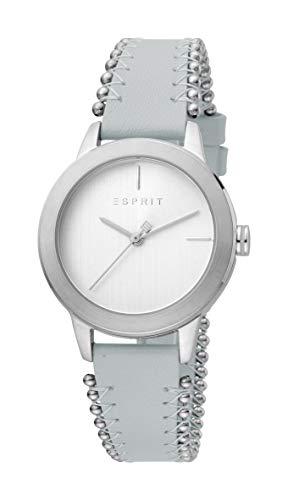 Esprit ES1L105L0035 Bloom Perls Uhr Damenuhr Lederarmband 5 bar Analog Blau