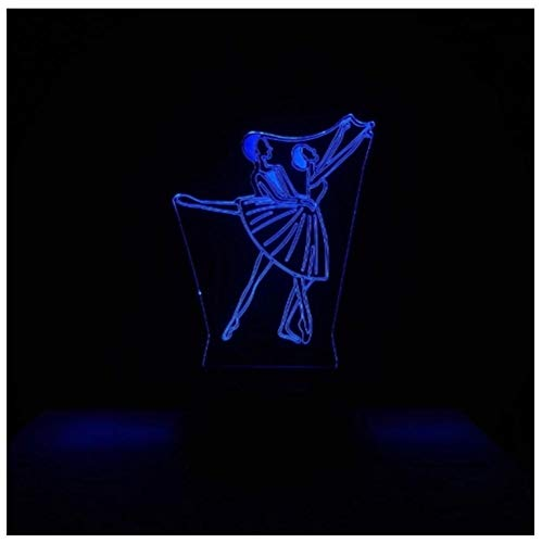 GXJAWYZ Dancer LED Night Light 16 Color with Remote Control 3D Illusion Bedside Table Lamp Fun Gadget Toys for Kids Creative Smart Decorative Lamp Perfect Gift for Child Adult