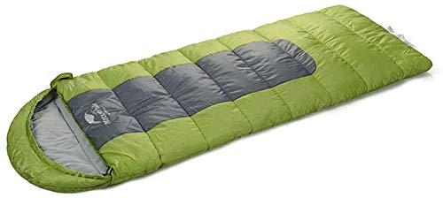 Sac de couchage durable, 4 saison sac enveloppe épaisse légère robe de couchage randonnée portable chaud coton creux de raccordement de tapis de sol extérieur étanche dormir, vert, 210 * 75 cm de tail