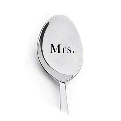 Find Discount LANGMAN 2020 New Stainless Steel Coffee Spoon Personalized Lettering Couple Gift Table...