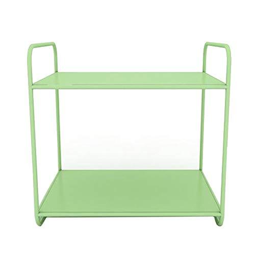 JCNFA Desktop-rek met metalen frame, magazijnrekken, kunstenaars, boekenorganisator, voor thuiskantoor, robuust, 2 lagen, 5 kleuren 13.77 * 9.84 * 13.38in E
