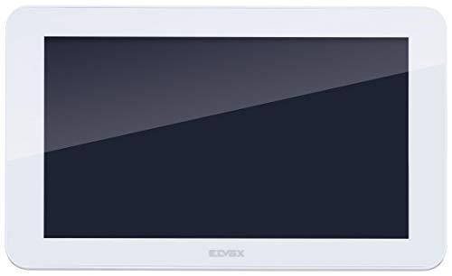 Vimar K40937 Monitor LCD 7in de pantalla táctil para kit videoportero de superficie, 1 alimentador 40103, con estribo para la fijación de superficie, blanco