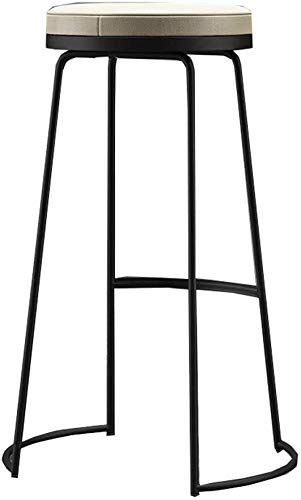 Barkruk hoge kruk stoel gemaakt van hout voor keuken kantoor Europese high kruk barkruk stoel eenvoudige moderne bar stoel mode barkruk vrije tijd hoge stoel   High45 / 65 / 75cm  zwart (grootte: Hig