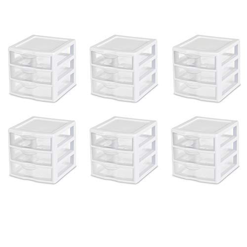 sterilite small 3 drawer unit - 1