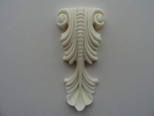 Corbel decorativo caer muebles molduras resina aplique onlay NR20 5.5 cm X 11.5 cm X 1.5 cm