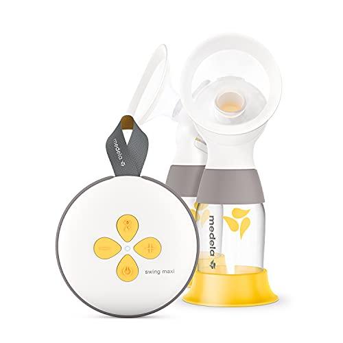 Medela Extractor de leche eléctrico Swing Maxi - Recargable mediante USB, más leche en menos tiempo, con embudos PersonalFit Flex y tecnología de extracción de 2 fases de Medela