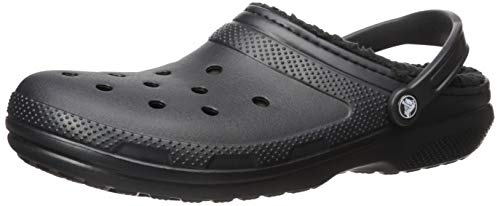 Crocs Classic Lined Clog Mule, Black/Black, 15 US Women / 13 US Men