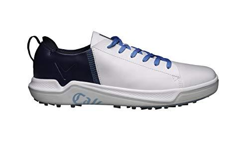 Callaway Laguna 2020 Zapato de golf impermeable sin clavo Hombre, Blanco/Azul Marino, 42.5 EU