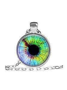Geheimnisvolle Eye Schmuck Halskette Halskette, Eye, Eye Art, Glas Eye, bunt, Eye,