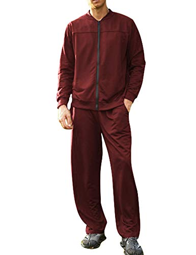COOFANDY Men Runing Athletic Tracksuits Set Slim Fit Sports Jacket and Pants Set
