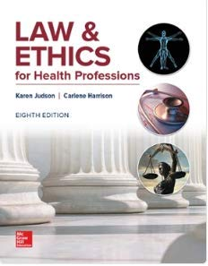 LAW+ETHICS FOR HEALTH PROFESSIONS