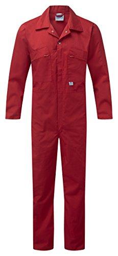Blue Castle 366 - Mono de trabajo cremallera frontal, 46, rojo