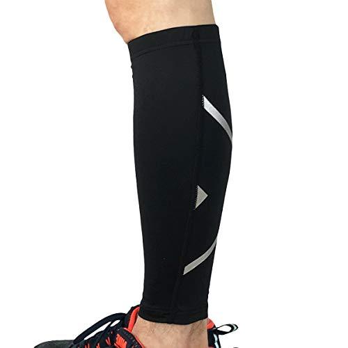 LIOOBO Wadenbein-Kompression Beinschutz Beinschutz Kniestütze zum Laufen Wandern Outdoor-Sportarten - Größe M (Schwarz)