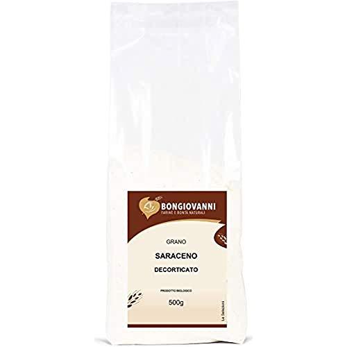 BONGIOVANNI FARINE E BONTA' NATURALI-Gano Saraceno Decorticato Bio - Formato da 500 grammi, 520G