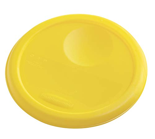 Rubbermaid Commercial Lid (Lid Only) for Round Food Storage Container, Fits 4 Qt. Containers, Yellow (FG572200YEL)