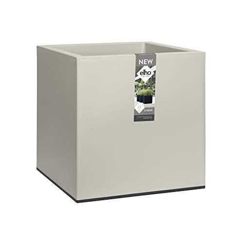 Elho Vivo Matt Finish Square Wheels 40 - Vaso per piante, per interni ed esterni, L 39 x L 39 x H 41 cm