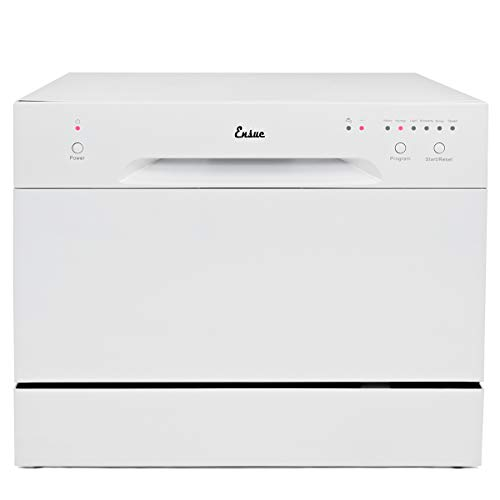 Ensue Countertop Dishwasher Portable Compact Dishwashing Machine White