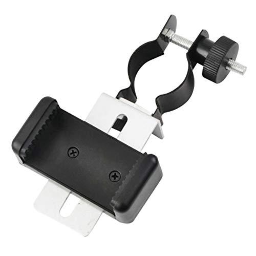 freneci Adaptador de Metal para Smartphone para Microscopio, Conector Monocular de Telescopio