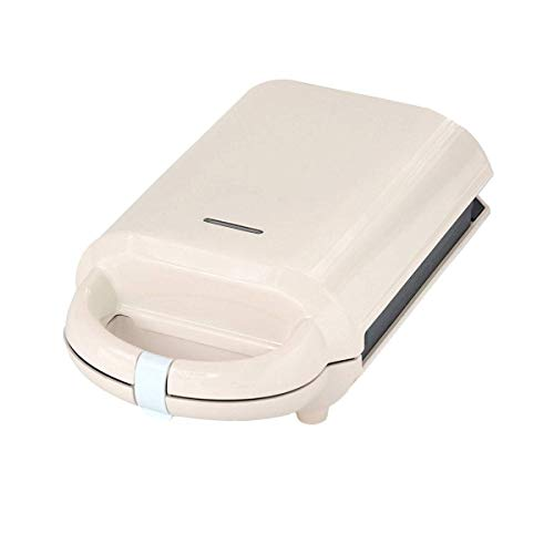 YFGQBCP 640W Mini Wafflera, sandwichera, 2-en-1 Función Compacto de Alta Gama de diseño de Acero Inoxidable Desmontable Maker con Revestimiento Antiadherente Placas, Indicador LED, Beige