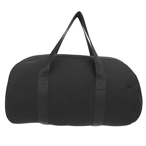 Lautsprechertasche, Lautsprecher-Tragetasche, mit doppeltem Reißverschluss, große Kapazität, weiches und elastisches, kühles, schwarzes Aussehen für den Schutz von Reiseautos für
