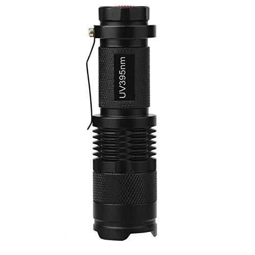 Mini linterna, Wilecolly UV Ultra LED Linterna Blacklight Lámpara de inspección de luz Antorcha 395/365 nM(395nm)