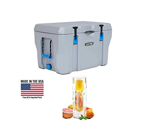 Lifetime High Performance Cooler with Water Bottle (77-Quart)