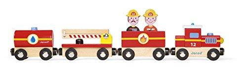 Janod - J08540 - Story - Train Pompiers (bois)