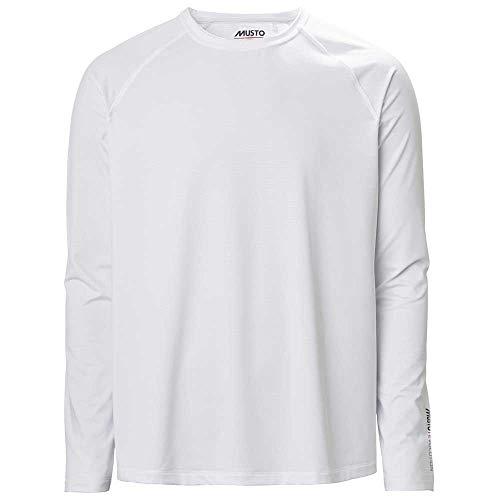 Musto T-Shirt à Manches Longues Hommes Sunblock Evolution 2.0 - Blanc - Conçu pour améliorer considérablement Le Confort en Cas d'; Active