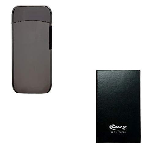 Les Colis Noirs LCN - Coffret Briquet Cozy USB Double Arc Electrique sans Flamme Noir - Cadeau Fumeur - 298