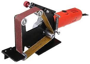Angle Grinder Belt Sander Attachment Metal Wood Sanding Belt Adapter Use 100 Angle Grinder - Tool Parts Angle Grinder Parts - 1 x Belt Sander Attachment, 1 x M10 Adapter, 5 x Sanding Belts