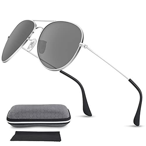 95Street Gafas de Sol Mujer Hombre Retro Redondas Unisex UV400 Proteccion