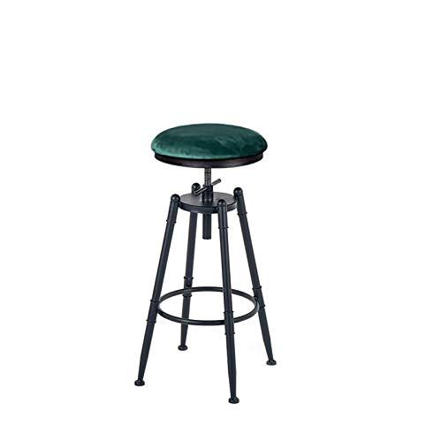 BY-lYJ Chaise de Bar Chaise de Salle à Manger pivotante à Hauteur réglable Tabouret Rond Style Industriel pour comptoir de Cuisine, îlots de Cuisine et Tables de pub Chaise de Comptoir Réglable