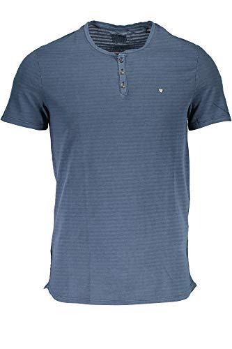 Guess Herren T-Shirt, Türkis XL