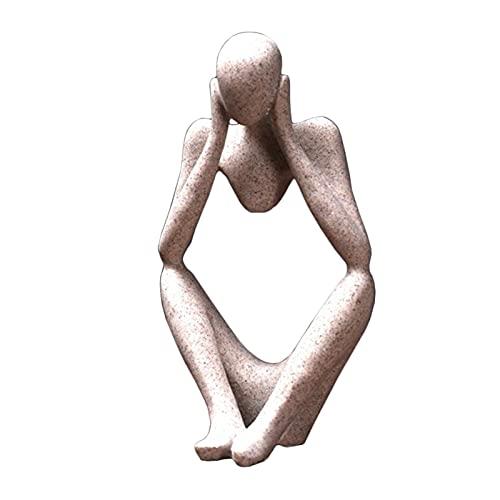 ZSQZJJ Figuras en Miniatura, estatuas de Resina artesanales, esculturas Creativas de Pensador Abstracto para Personas, Accesorios de decoración del hogar de Oficina