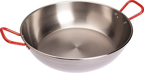 Diepe pan uit Spanje, Paella kom, D = 50 cm, gepolijst staal 18 liter