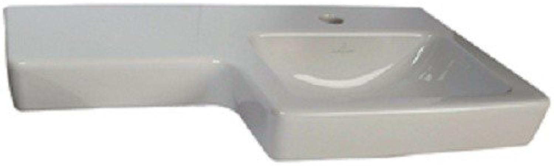 Villeroy & Boch Waschtisch Subway2.0 41156R 630x355mm Hl. durchgest ohne überlauf wei c, 41156RR1