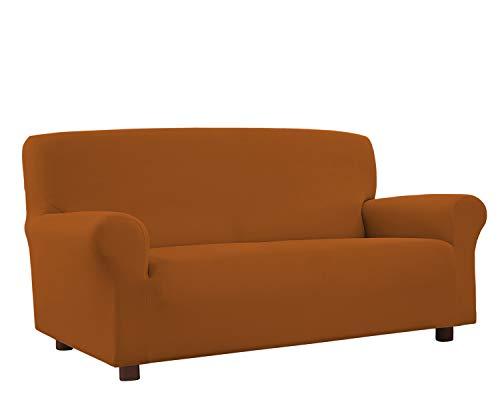 Banzaii Funda Sofa 3 Plazas Ladrillo – Elastica Antimanchas – Extensible de 150 a 200 cm - Made in Italy