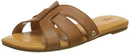 UGG W Teague, Sandalia Mujer, marrón (Tan Leather), 38 EU