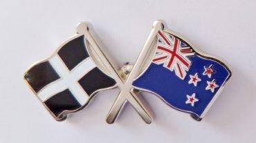 1000 drapeaux du comté des Cornouailles et drapeau de la Nouvelle-Zélande