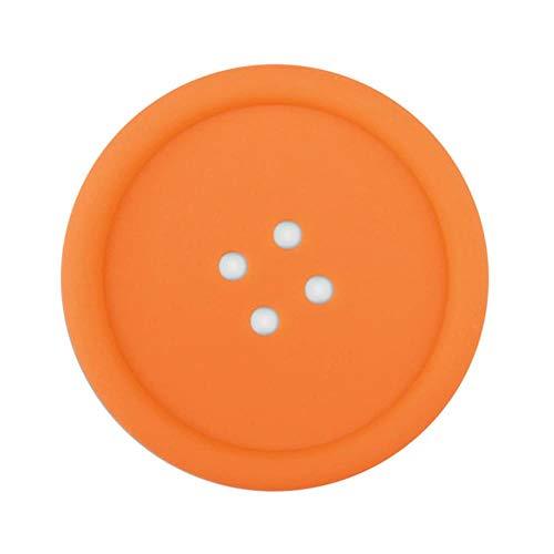 1 stuks knop vormige siliconen onderzetter eettafel beschermer placemat theekop koffiemok isolatie mat glas slip pad decoratie, oranje, Verenigde Staten