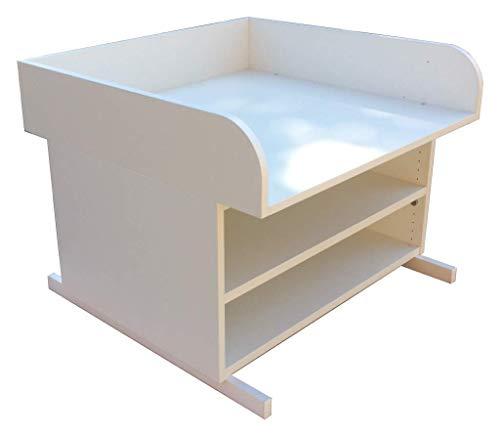 Wickelauflage Badewanne Holz mit Ablageboden, passend bis Wickelauflage Größe (T/B) 55 x 75 cm