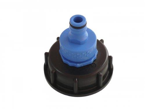 ElektrikVision Accessoire pour réservoir à eau IBC Adaptateur universel compatible avec les produits Gardena DIN61