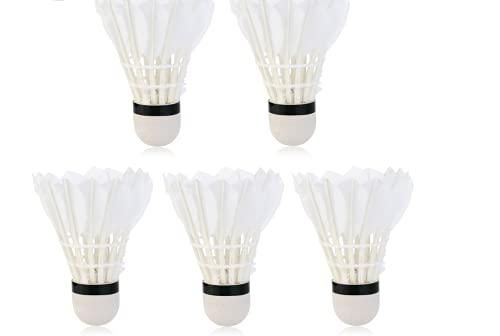 Foxnovo LED Badminton Federball Beleuchtung Birdies Shuttlecock Neuheit Sport 5st (Blau Licht)