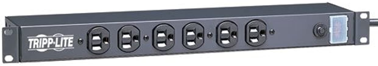 Tripp Lite 12 Outlet Rackmount Network-Grade PDU Power Strip, Front & Rear Facing, 15A, 15ft Cord with 5-15P Plug (RS-1215)
