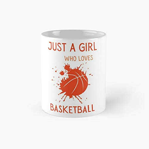Just A Girl Who Loves Basketball Taza clásica mejor regalo divertidas tazas de café 11 oz