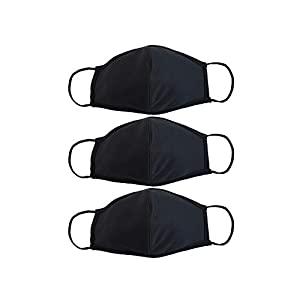 EnerPlex 3-Ply Reusable Face Mask - Breathable Comfort, Fully Machine Washable, Face Masks Large (3-Pack) - Black from EnerPlex
