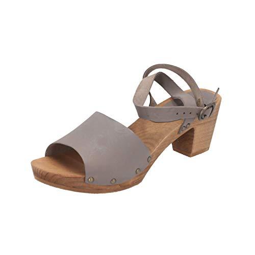 Sanita Damen Yara Square Flex Sandal Knöchelriemchen, Grau (Grey 20), 36