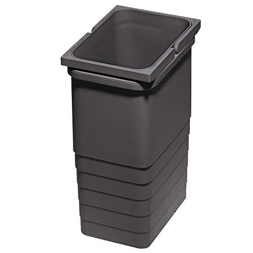 Ninka eins2vier Abfallsammler Höhe: 310 mm Volumen: 8 Liter 310 x 153 mm dunkelgrau Abfalltrennsystem Müll von SO-TECH®