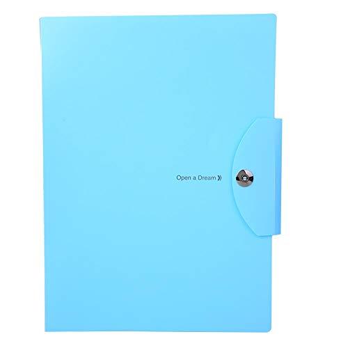 Documentmap PVC Plastic Blauw 5-lagen A4-bestanden Envelop met magnetische gesp, kantoorbenodigdheden